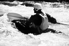 Kayaking as extreme and fun sport Stock Photography