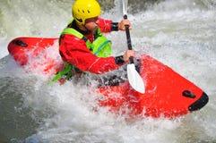 Kayaking as extreme and fun sport royalty free stock photo