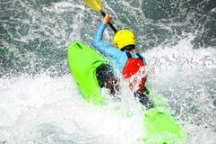 Kayaking as extreme and fun sport Royalty Free Stock Image