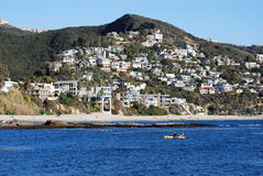 Kayaking av Laguna Beach, Kalifornien Arkivfoto