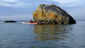 Kayaking - baía Georgian Ontário Imagem de Stock Royalty Free