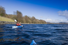 Kayaking on Bala Lake Stock Photography