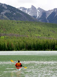 Kayaking in Banff Royalty Free Stock Photography