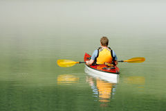 Kayaking in Banff Stock Images