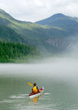 Kayaking in Banff Royalty Free Stock Photos