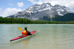 Kayaking in Banff Stock Photo
