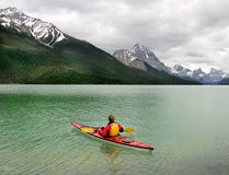 Kayaking in Banff Stock Photography