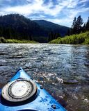 Kayaking the Blackfoot River royalty free stock photos
