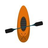 Kayaking board oar recreation camping Royalty Free Stock Image