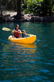 Kayaking children Royalty Free Stock Photo