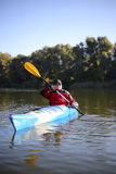 Kayaking the Colorado River (Between Lees Ferry and Glen Canyon Dam).  Royalty Free Stock Photos