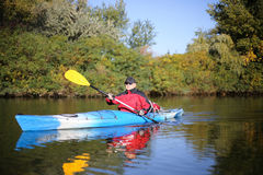 Kayaking the Colorado River (Between Lees Ferry and Glen Canyon Dam) Royalty Free Stock Photo