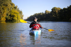 Kayaking the Colorado River (Between Lees Ferry and Glen Canyon Dam).  Royalty Free Stock Photography
