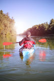Kayaking the Colorado River (Between Lees Ferry and Glen Canyon Dam).  Stock Images