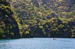 Kayaking in Coron Stock Images