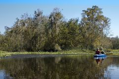 Kayaking the Creek Stock Images