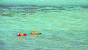Kayaking on crystal turquoise Andaman sea at Koh Lipe Stock Images