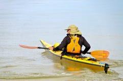 Kayaking dans le Golfe du Mexique Photographie stock
