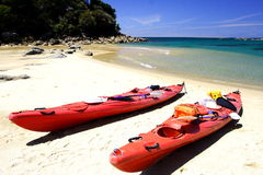 kayaking de 3 Abel tasman Photos libres de droits