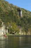 Kayaking de hogere rivier van Iowa Stock Foto