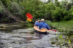 Kayaking de transporter de rivière de Sula editoal Image libre de droits
