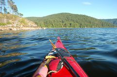 Kayaking in Deep Cove Stock Images