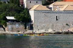 Kayaking in Dubrovnik Royalty-vrije Stock Foto