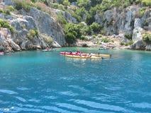 Kayaking em Kekova, Turquia Fotografia de Stock Royalty Free