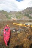 Kayaking em Lofoten Foto de Stock
