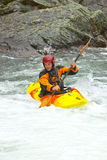 Kayaking em Noruega imagem de stock royalty free