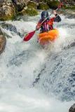 Kayaking estremo Immagini Stock Libere da Diritti