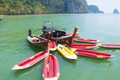Kayaking excursion Stock Images