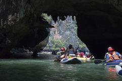 Kayaking excursion. On the island of Thailand Stock Image