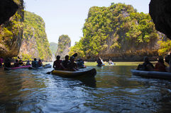 Kayaking excursion Royalty Free Stock Photography