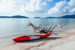 Kayaking exploring sea of Koh Mud Sum near Koh Samui, Surat Tha. Ni, Thailand. Adventure eco travel concept stock photo