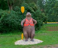 Kayaking för instruktör som rafting, bäver som campar i stadshästtaxi, tar oss, den hydrauliska hästen för kanalen som taxien tar Royaltyfria Foton