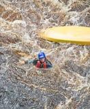 kayaking flod för olycksfindhorn Arkivbilder