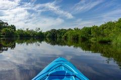 Kayaking in Florida. A Morning Kayaking Trip up Crane`s Creek in Melbourne FL stock photo