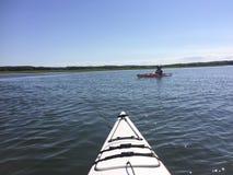 Kayaking Frau Lizenzfreies Stockfoto