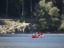 Kayaking at Gardon River royalty free stock photos