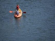 Kayaking at Gardon River stock image