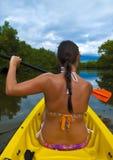 Kayaking Girl Royalty Free Stock Image