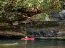 Kayaking on Grayson Lake stock photos