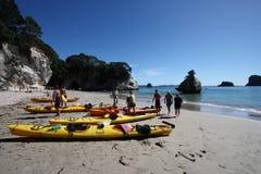 kayaking hav Royaltyfri Fotografi