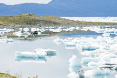 kayaking hav Arkivfoton