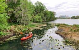 Kayaking i Orlando, Florida arkivfoto