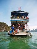 Kayaking i Pang Nga Bay, Thailand Arkivbilder