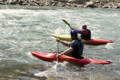 Kayaking - il Nepal fotografia stock libera da diritti