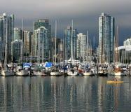Kayaking In False Creek Vancouver Royalty Free Stock Images