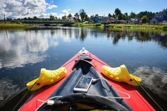 Kayaking in the Karelia Stock Photo